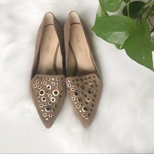 Nine West Akeelah Pointed Suede Loafers